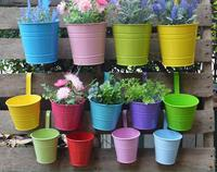 10pcs 10 Colors Fashion Metal Iron Flower Pot Hanging Balcony Garden Plant Planter Hook Removable Home