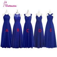 Royal Blue Long Bridesmaid Dresses Pleated Chiffon Alibaba China Plus Size Vestido Longo De Festa African