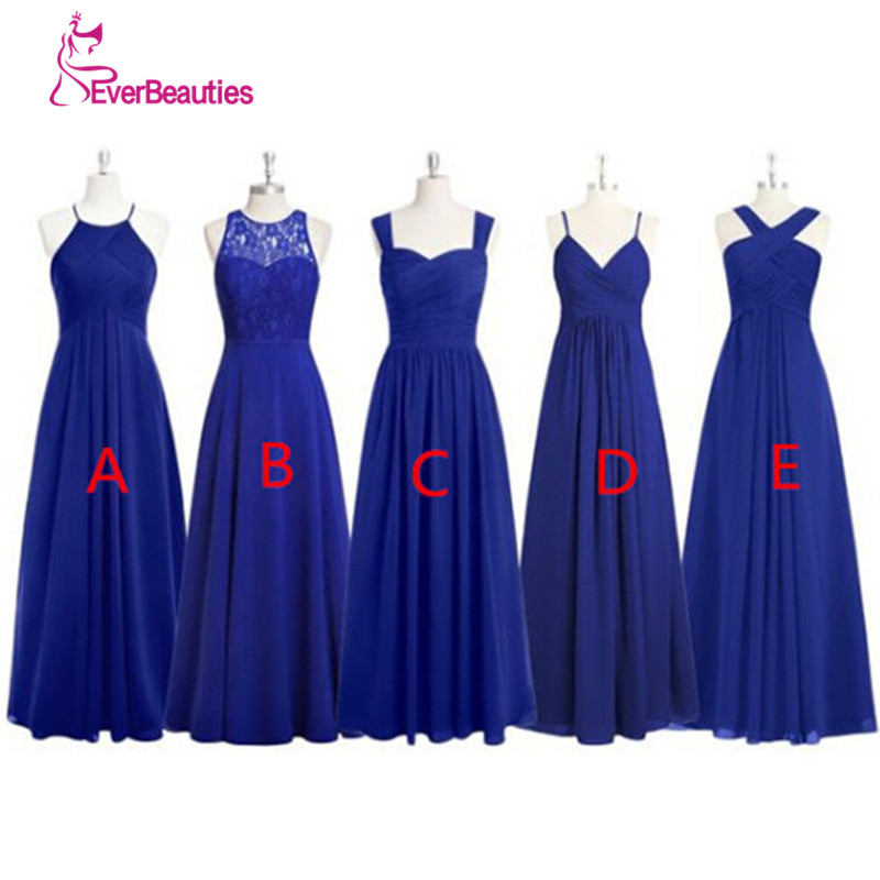Royal Blue Long   Bridesmaid     Dresses   Pleated Chiffon Alibaba China Plus Size Vestido Longo De Festa African   Bridesmaid     Dresses
