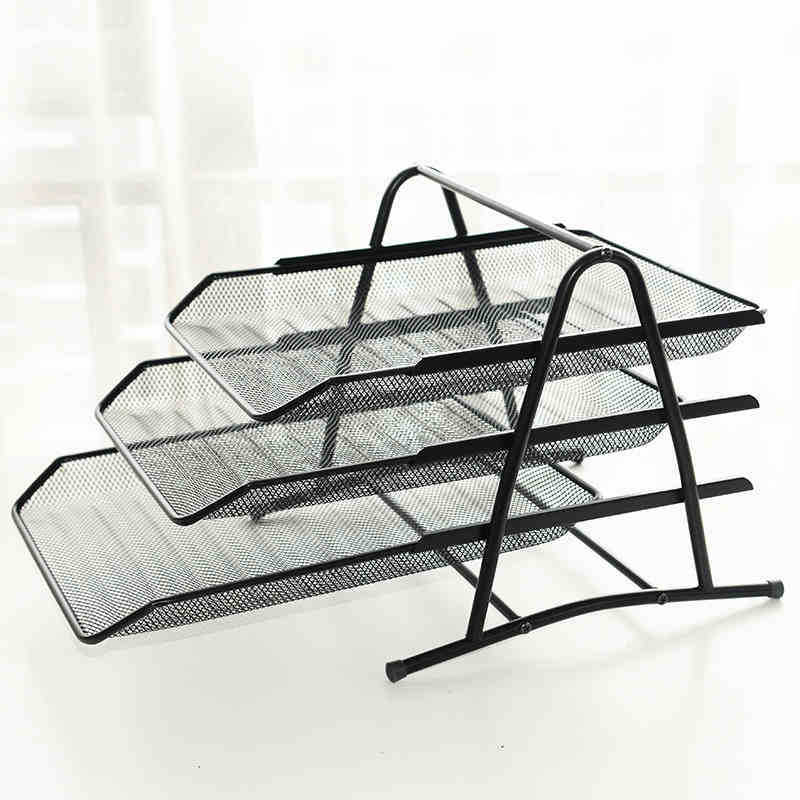 File Tray A4/3 Layer Data Frame Metal File Tray Iron Mesh Three-layer File TrayFile Tray A4/3 Layer Data Frame Metal File Tray Iron Mesh Three-layer File Tray