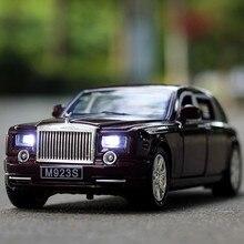 1:24 бесплатная доставка Rolls-Royce Phantom Сплава Литья Под Давлением Модель Автомобиля Вытяните Назад Автомобиль Игрушки модель Электронного Автомобиля со светом и звук Детские Игрушки
