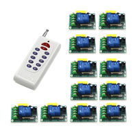 Free Shipping 1 Transmitter+12 Receiver high power wireless remote control switch 220V 30A pump remote control switch SKU: 5526