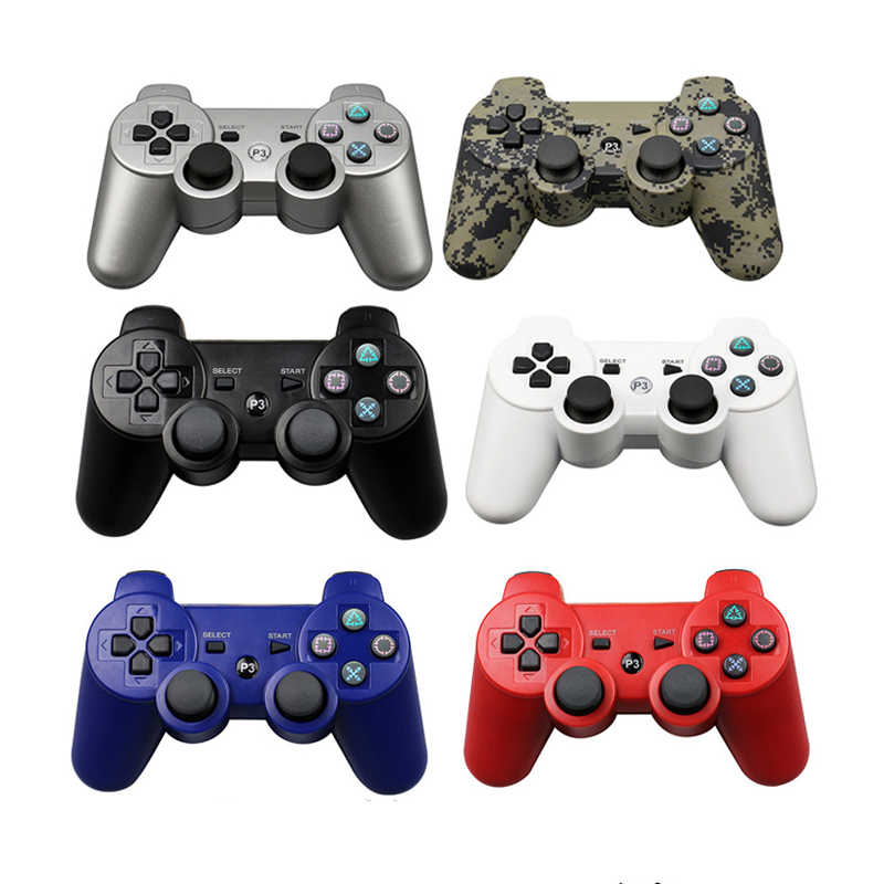 Eastvita untuk PS3 Nirkabel Bluetooth Game Controller 2.4GHz 7 Warna untuk Sixaxis PlayStation 3 Kontrol Joystick Gamepad R25