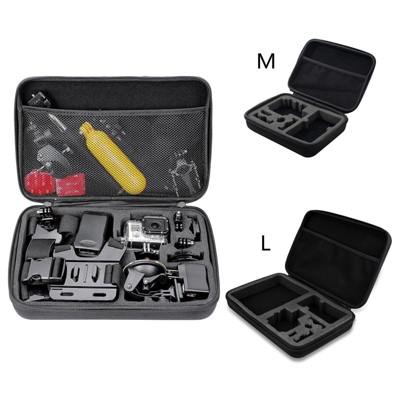 Gopro Acessório de Câmera Saco De Armazenamento Portátil Carry Case Bolsa Coletora de Médio Tamanho Grande EVA À Prova de Choque para GoPro Hero 7 6 5 4 3