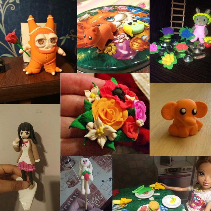 12 24 36 pcs Air Clay Fimo Polymer Plasticine Modelling Clay Light DIY Soft Creative Handgum Toys DIY Plasticine Clay Learning Toys