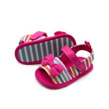 Infant Slippers Baby-Girls First-Walkers Summer Shoes Soft-Sole Bebe Hot Pink Cute Butterfly-Knot