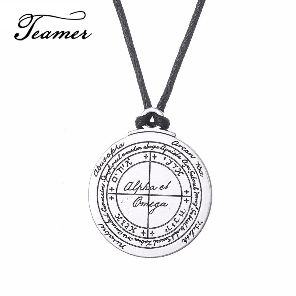 Jewelry & Accessories Necklaces & Pendants Eueavan 30pcs Scorpion Mars Key Of Solomon Pendant Necklace Magic Array Vintage Jewelry For Men Women