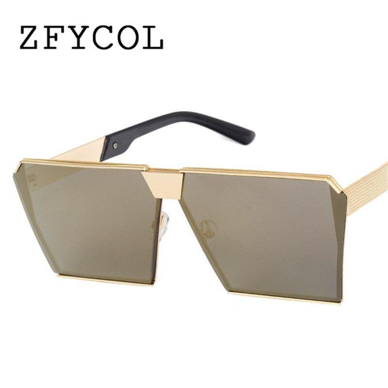 ZFYCOL Mode Marque De Luxe En Métal Carré lunettes de Soleil Femmes Designer  Celebrity UNISEXE Lunettes Surdimensionné Miroir Lunettes de Soleil Pour  Hommes 13f2fe5cc6e3
