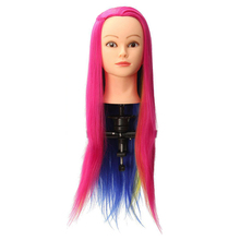 Professional 25 inch Colorful Hair Hairdressing Doll Heads Female Mannequin Training Manikin Head
