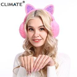 Климат для женщин детские наушники-муфты милые наушники дети милое кошачье ушко теплые дети милые теплые наушники для детей для