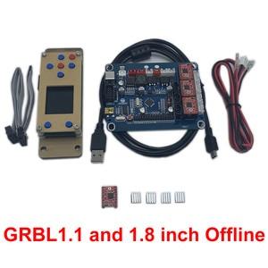 Image 4 - Placa controladora fuera de línea CNC GRBL, placa de Control de máquina de grabado, 3 ejes, USB, 1,8 pulgadas, Lcd