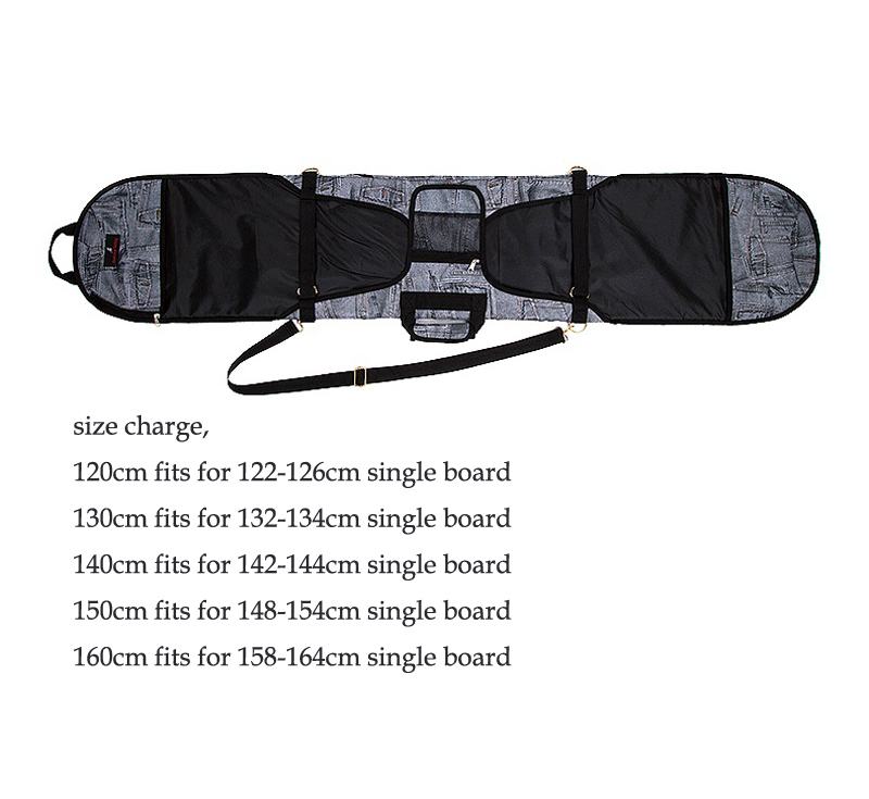 Ski Ski Pack Pliable Portable Carry Épaule Main Sac Pour Snowboard Unique Bord Étanche Oxford Cas Couverture - 3