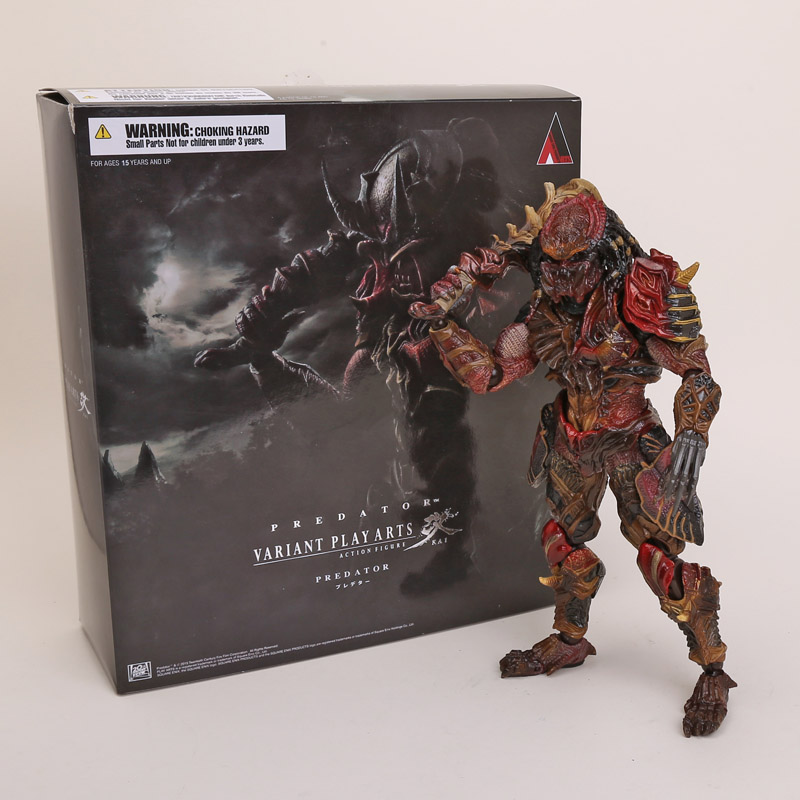 Playarts KAI Predator Alien Hunter PVC Action Figure Collectible Toy 27cm Retail Box predator action figure master wolf predator anime movie predator vs alien collectible model toy pvc 200mm