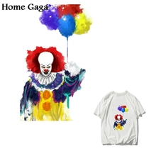 Homegaga Stephen King's It Ironing Transfers Patches Heat Press Stickers for Lovely T-shirt DIY Applique for Parent-childs D1781 lovely shoes applique t shirt