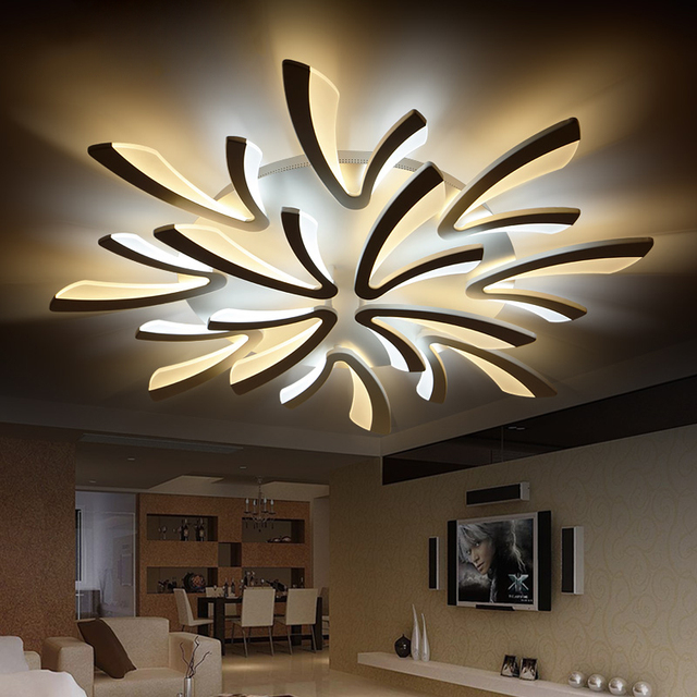 Neo gleam acrylic thick modern led ceiling chandelier lights for neo gleam acrylic thick modern led ceiling chandelier lights for living room bedroom dining room home mozeypictures Gallery