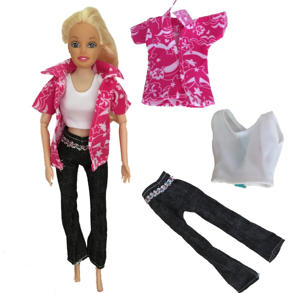 693764daa4e Doll Clothing 1 set T shirt+pants Clothes for 11 Joints Barbie Doll 2016  Stylish Doll Jeans-in Dolls Accessories from Toys   Hobbies on  Aliexpress.com ...