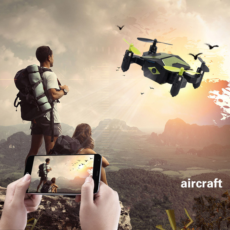 New mini 2.4G foldable rc drone XT 2 WIFI FPV realtime transmission remote control drone with hd camera Resistance to fall toys