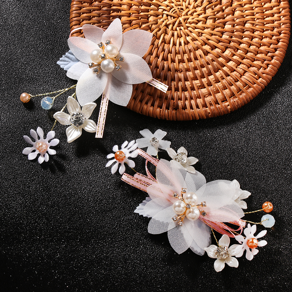1pc Women/'s Vintage Hairpin Pearl Leaves Flower Hairpin Wedding Hair Accessories