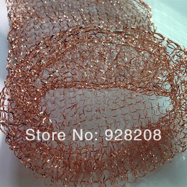 купить Knitted Copper Filter Screen(Flat Copper Wire 10 cm*10 meters spot supply) по цене 5886.23 рублей