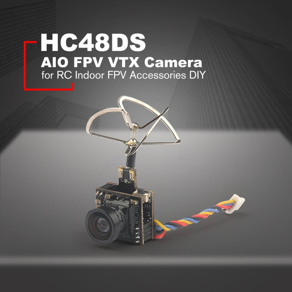 HC48DS Mini FPV 600TVL Camera 48CH 25MW 100MW Switchable AIO FPV VTX 1/4 CMOS Cam for RC Indoor FPV Accessories DIY