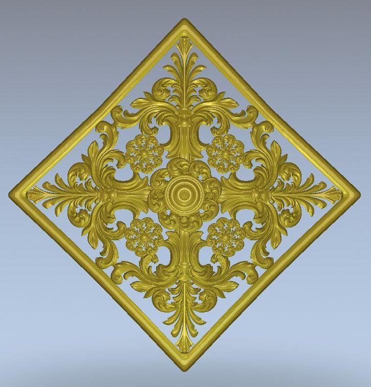 3d Model Relief  For Cnc In STL File Format Rosette_67