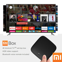 Original Xiaomi MI BOX Android 6.0 Smart Set-top TV Box 4K Quad Core WIFI Youtube Sling TV Netflix DTS Dolby IPTV Media Player