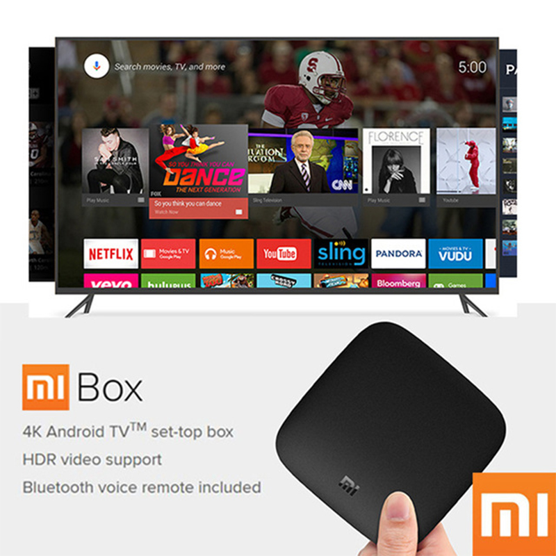 9fa6a37b05 Original Xiaomi MI TV BOX 3 Smart 4K Ultra HD 2G 8G Android 8.0 ...