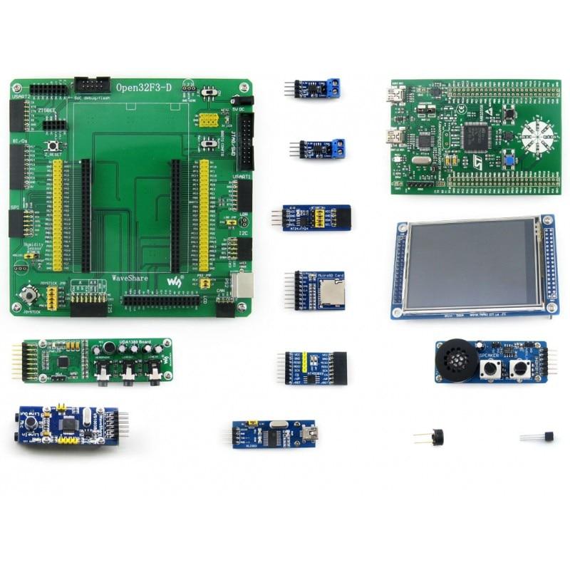 STM32F3DISCOVERY et Carte Mère Open32F3-D + 15 Modules Kits STM32F303VCT6 STM32 BRAS Cortex-M4 Développement Kit