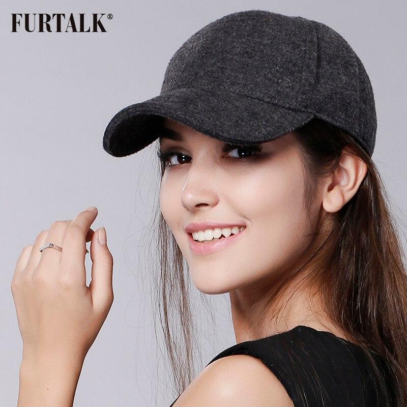 FURTALK Wool Hats For Women Snapback Women Fashion Caps