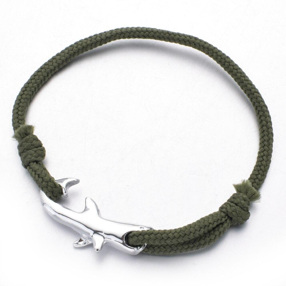 Fashion Ocean Shark Charms Bracelet Women Men Handmade Adjustable Blue Rope Chains Bracelet Best Friends Cuff Jewelry