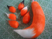 Halloween Party Fox Tail Ear Sexy Animal Anime Cosplay Accessories Free Shipping Style Able Orange Mix + Ears
