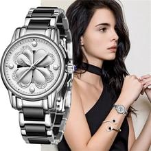 цены SUNKTA Listing Top Luxury Brand Women Watch Women's Ceramic Watch Fashion Dress Lady Girl Analog Quartz Clock Zegarek Damsk+Box