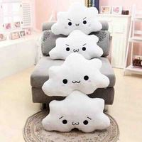 New white Cloud plush toys sofa soft toy office nap stuffed toy kids gift