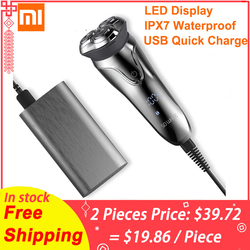 XIAOMI Soocas SO WHITE ES3 3D Smart Electric Shaver USB 3 Head Electric Razor Shaver LED Display Beard Trimmer Shaving Machine
