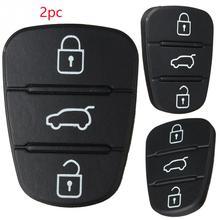 2 шт 3 кнопки резиновая накладка для ключей для hyundai I30 IX35 Kia K2 K5 Новая замена флип дистанционный ключ-брелок от машины чехол Крышка
