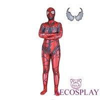 Red Carnage Venom Spider Man Scarlet Blood Gwen Stacy Cosplay Costume Spiderman Zentai Superhero Bodysuit Suit