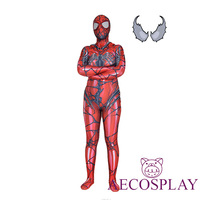 Red Carnage Venom Spider Man Scarlet Blood Gwen Stacy Cosplay Costume Spiderman Zentai Superhero Bodysuit Suit