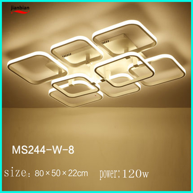 Living room lights simple modern atmosphere rectangular ceiling light warm bedroom lights creative personality hall led lamps