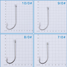 10pcs/lot Stainless Steel Fishing Hook Long Shank Saltwater Fishhooks