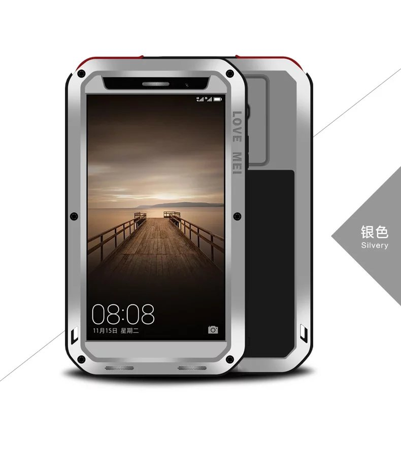 buy online a425e 853c9 US $29.7 10% OFF|LOVEMEI Luxury Metal Aluminum Case Cover For Coque Huawei  Mate 9 Pro Waterproof Shockproof Life + Gorila Shield Phone Armor Case-in  ...