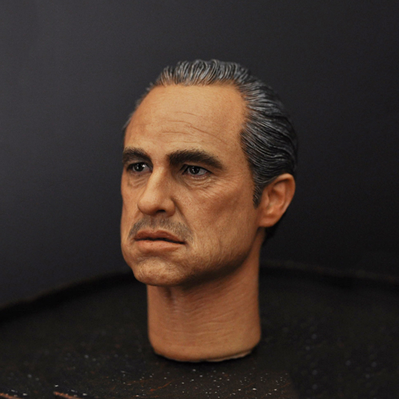 где купить 1/6 Marlon Brando The Godfather Corleone Male Head Sculpts For 12