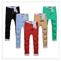 big size Men Ankle length Casual pants skinny joggers Cotton jean pants Male pantalones hombre emoji joggers for boys mens