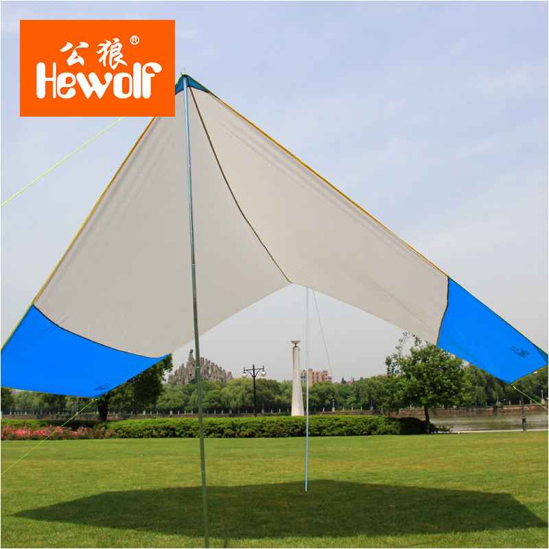 Hewolf 465*400cm outdoor beach c&ing canopy large folding rainproof awning balcony canopy high quality tarp-in Tents from Sports u0026 Entertainment on ... & Hewolf 465*400cm outdoor beach camping canopy large folding ...