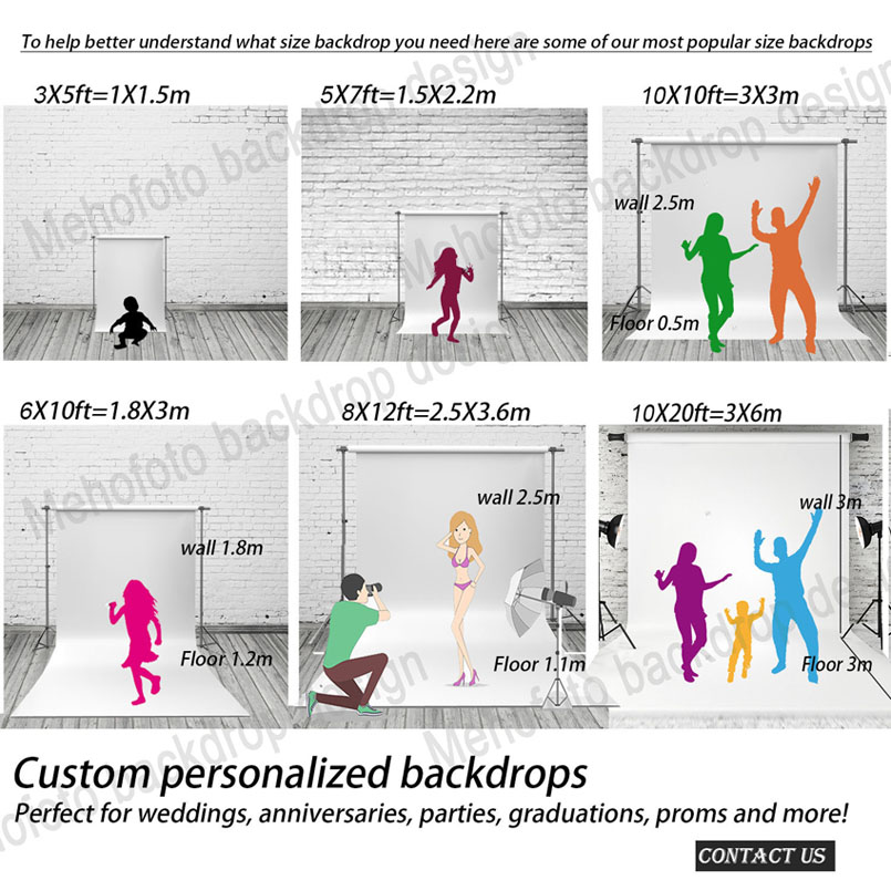 Image 4 - MEHOFOTO Christmas backdrops Photography Backdrop Birthday Party Custom Fotografia Seamless  Photo Backgrounds-in Background from Consumer Electronics