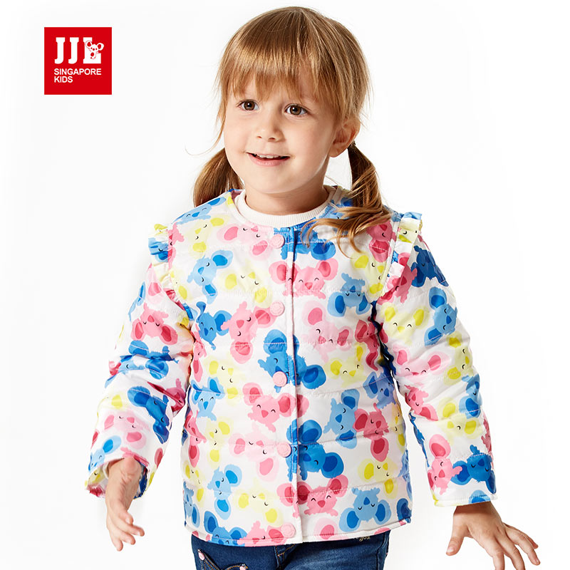 baby coat sweet cartoon pattern for brand baby girl outerwear warm winter clothes for baby girl