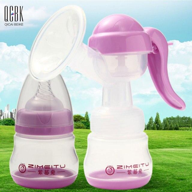 150 ML Manual de Extractores de leche de Succión del Pezón BPA Bebé Libre Beb Biberón de Leche Materna de Las Mujeres Bombas Neumático Lait con Cubierta