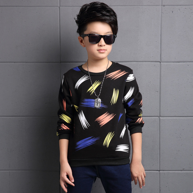 37815498cf1 Children s T-Shirts Autumn Winter New Baby Boys Long-Sleeved Bottoming  Korean Casual Fashion