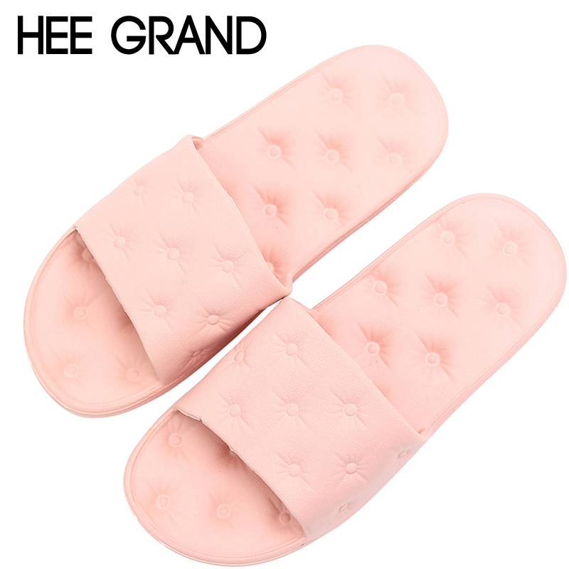 HEE GRAND Bathroom Creepers 2018 Summer Slippers Slip On Beach Flats Slides Platform Shoes Woman Casual Eva Women Shoes XWT1025 hee grand lace up gladiator sandals 2017 summer platform flats shoes woman casual creepers fashion beach women shoes xwz4085