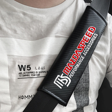 2pcs JDM for MS MAZDASPEED Carbon fiber seat belt cover shoulder pad Car styling for Mazda Honda Toyota Mitsubishi accessories цена и фото