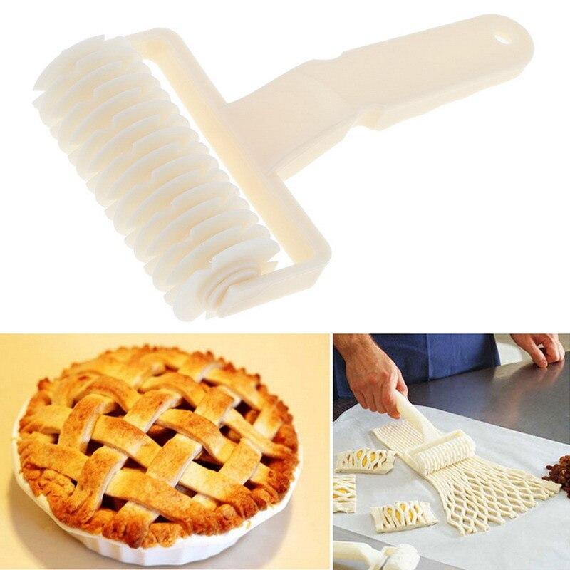 Pizza Pie Cookie Cutter Pastry Bakeware Embossing Dough Roller Lattice CA